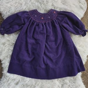 Strasburg vintage baby Dress courdory purple 6m